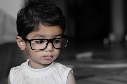 image child wearing glasses