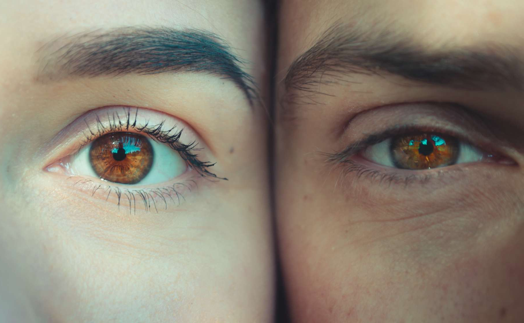 two eyes from two people