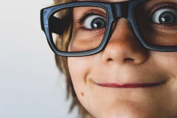 Boy with oversized glasses by Pexen Design